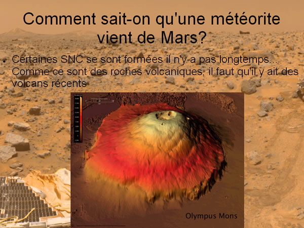 Olympus Mons, un volcan martien