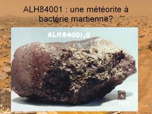 La météorite ALH84001