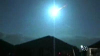 Chute d'une météorite le 01-12-2005 en Australie