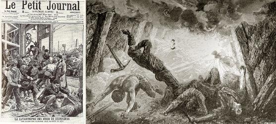 Documents d'époque relatant le coup de grisou de Courrières en 1906