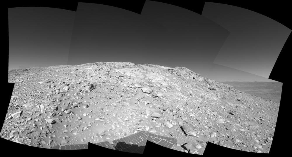Vue en arrivant à quelques mètres de West Spur