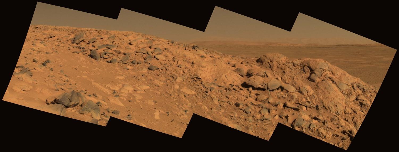 """Vue en """"vraies couleurs"""" du rocher West Spur"""