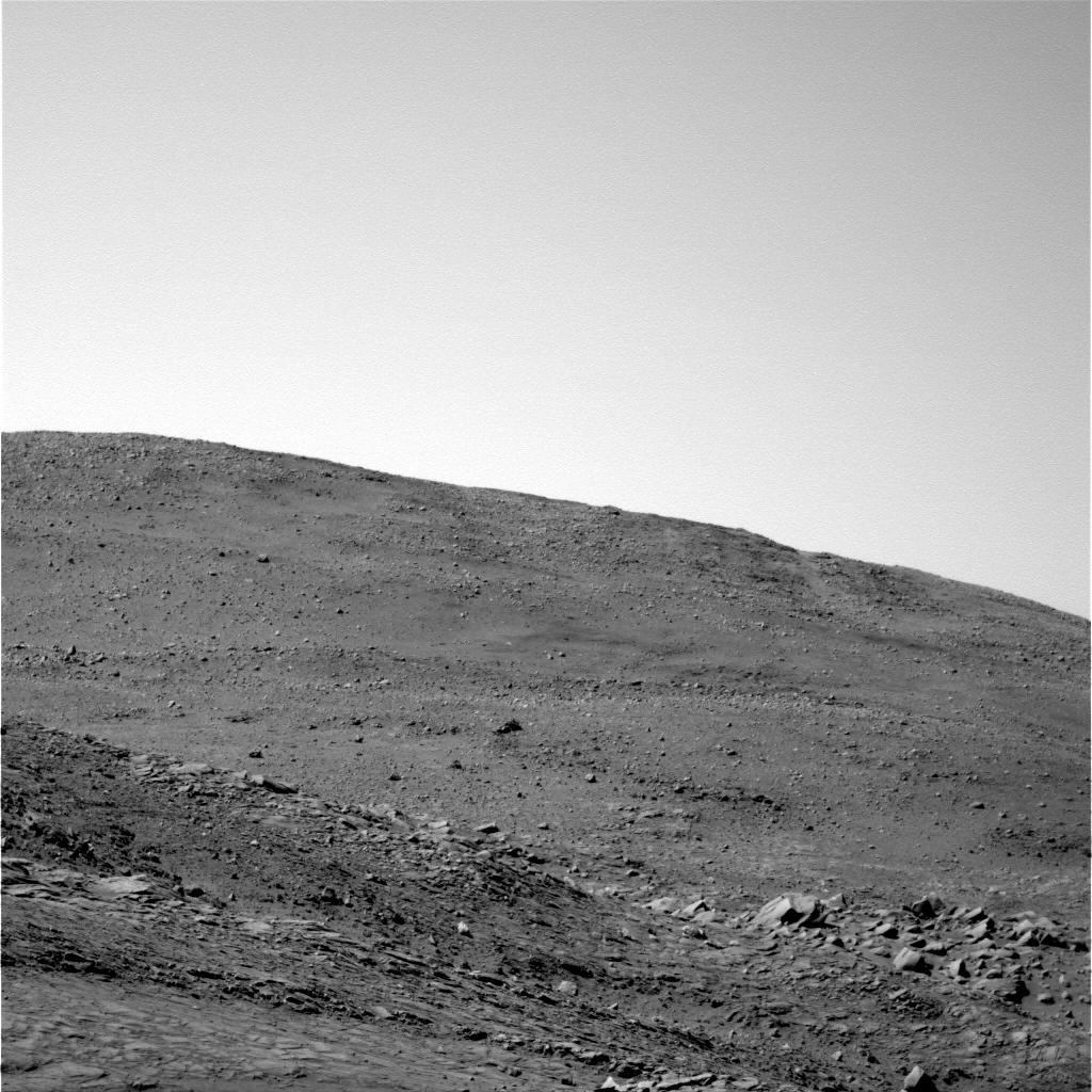 Affleurements présentant un litage, situés de l'autre côté de la crête de West Spur