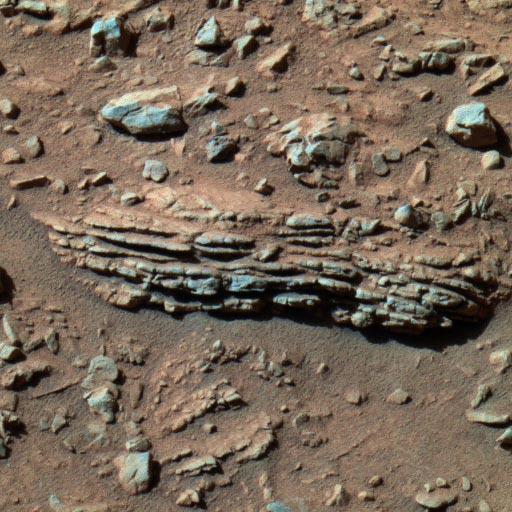 Tetl, roche litée des Columbia Hills