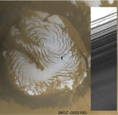 La calotte Nord de la planète Mars
