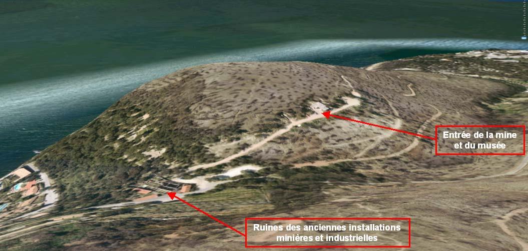 Vue du site de la mine du Cap Garonne (Var)
