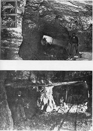 Documents d'époque montrant le travail dans la mine