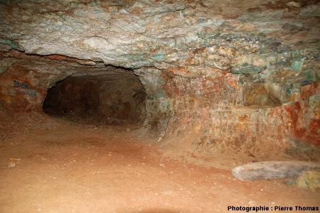 Vue d'ensemble d'une galerie, mine de Cap Garonne