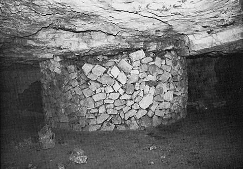 Document d'époque montrant un pilier en maçonnerie