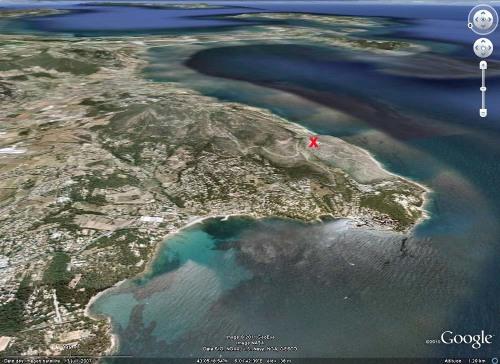 Le Cap Garonne (le Pradet, Var), à une douzaine de km au SE de Toulon
