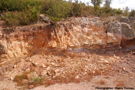 Ancienne carrière située au bord du «parcours découverte», Cap Garonne