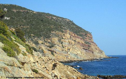 Vue sur le Cap Garonne depuis le niveau de la mer