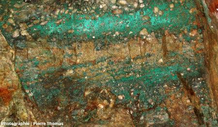 Stratifications obliques internes à un banc de grès, Mine de Cap Garonne, Le Pradet, Var