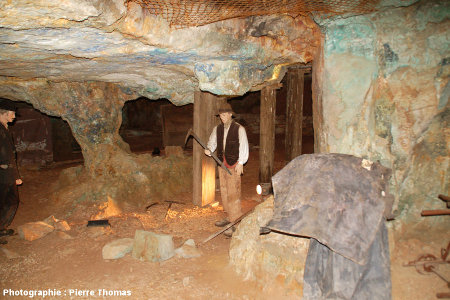 Reconstitutions in situ du travail de la mine dans les années 1900