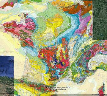 Localisation du district aurifère de Saint-Yrieix-la-Perche (Haute-Vienne) sur la carte géologique de la France au 1/1000000