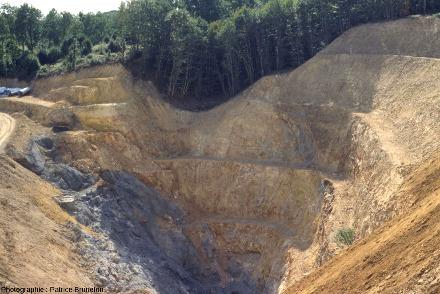 Mine à ciel ouvert de Cros Gallet en fin d'exploitation