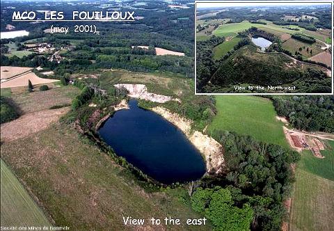 Mine à ciel ouvert ennoyée des Fouilloux en Dordogne