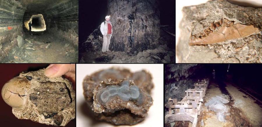 Florilège des curiosités géologiques de la Mine des Rois (Dallet, Puy de Dôme)