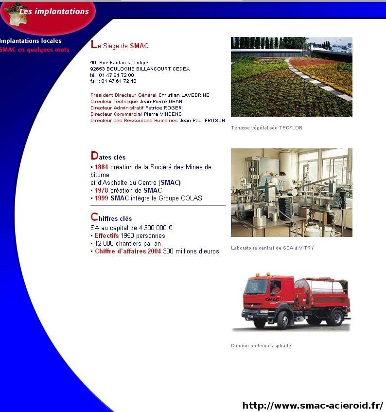 La SMAC, une entreprise bien actuelle, spécialisée dans les métiers de l'étanchéité et du revêtement