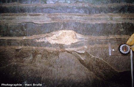Gros plan sur un mini-stromatolithe, Mine des Rois, Dallet