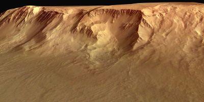 Escarpement basal du volcan Olympus Mons, Mars