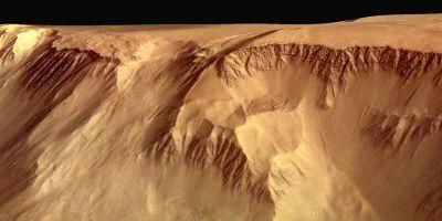 Escarpement basal du volcan Olympus Mons sur Mars