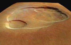 Caldeiras sommitales d'Olympus Mons, Mars
