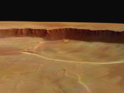 Glissement de terrain sur la paroi de la caldeira d'Olympus Mons