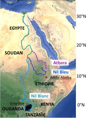 Géographie du Nil actuel