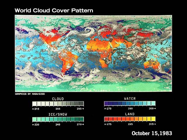 Couverture nuageuse à la surface de la Terre