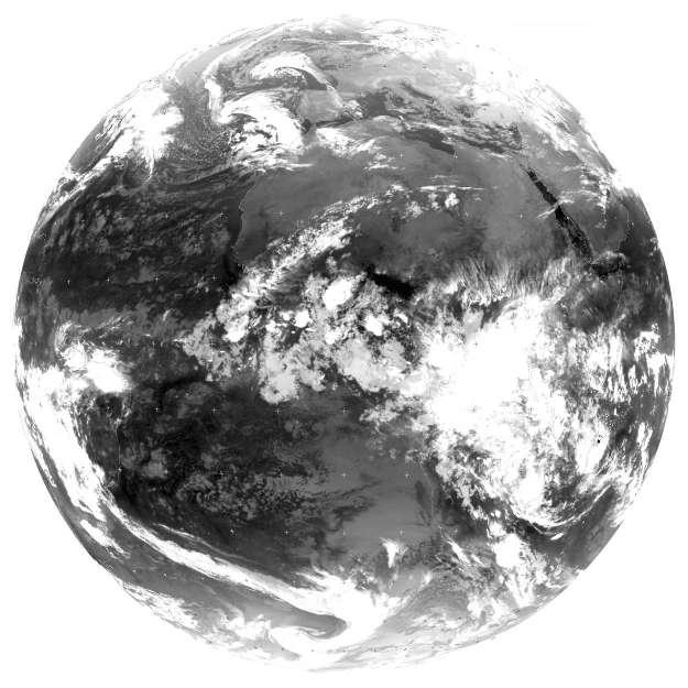 Image IR thermique de la Terre en janvier 1998