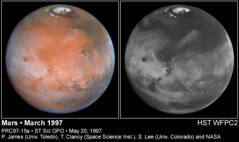 Nuages sur Mars, au début de l'été