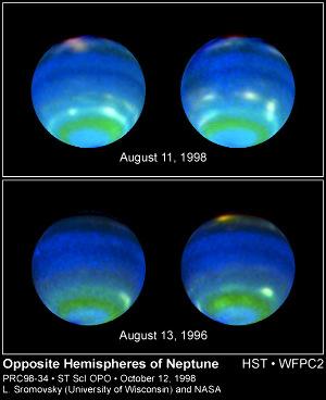 Nuages sur Neptune