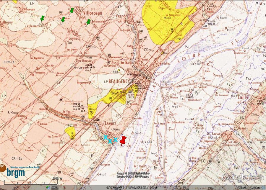 Cadre géologique de la commune de Tavers, au Sud de Beaugency