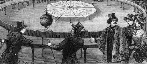 L'expérience du pendule de Léon Foucault au Panthéon de Paris, en 1851