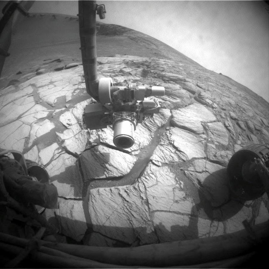 Mars: Opportunity a commencé sa descente dans le cratère Victoria et commence ses analyses et ses images