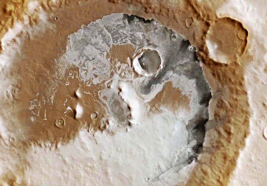 Le fond du cratère Liais au Nord de Promethei Planum, Mars