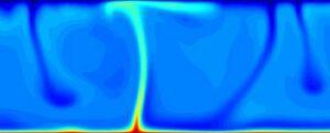Image extraite d'animations et modélisations de la convection