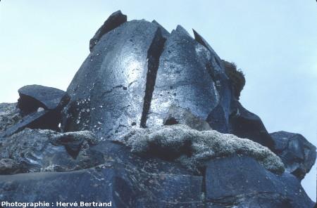 Détail de la coulée d'obsidienne du Laugahraun, Islande