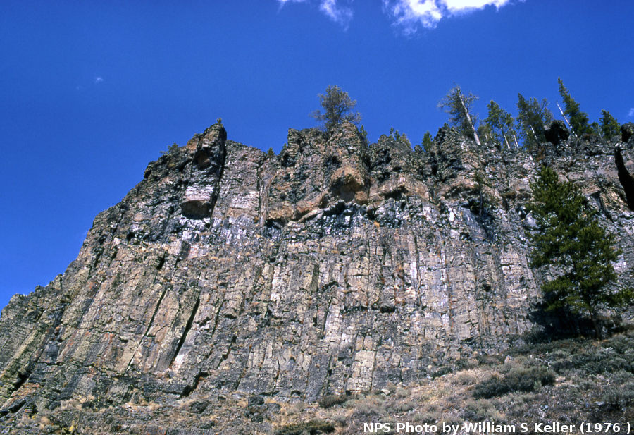 Obsidian Cliff, Parc National de Yellowstone, Wyoming
