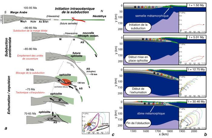 Reconstitution géodynamique et modèle thermomécanique de l'obduction