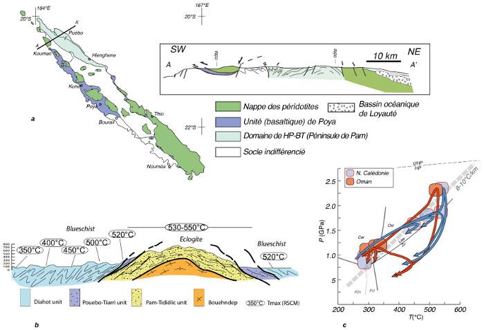 L'ophiolite de Nouvelle-Calédonie