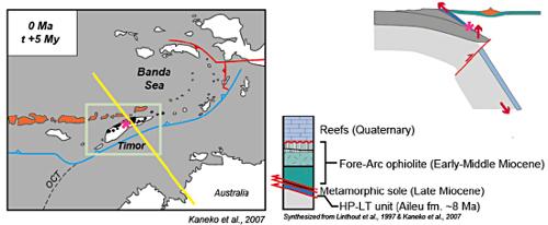Carte de la mer de Banda figurant l'ile de Timor