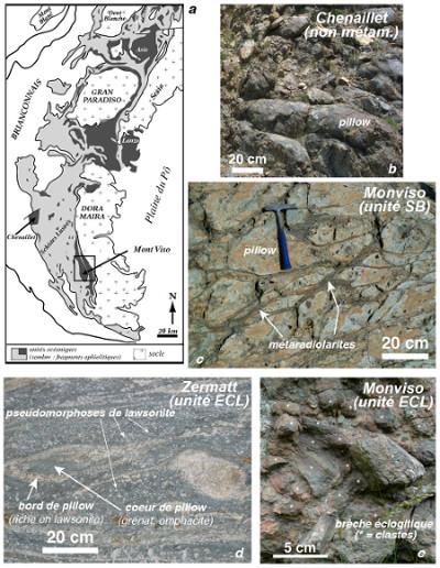 Quelques fragments ophiolitiques alpins