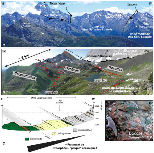 Le fragment ophiolitique métamorphisé du Mont Viso