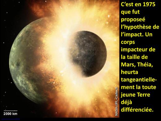 L'impact de Théia avec la Terre, origine possible de la Lune