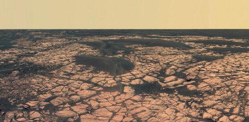 Le panorama du secteur nommé Olympia, quelque part entre les cratères Endurance et Victoria (décembre 2005)