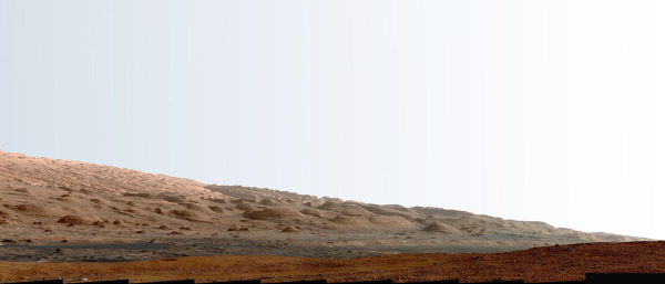 Détail de la mosaïque du Mont Sharp