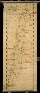 Carte de l'arc méridien de Quito