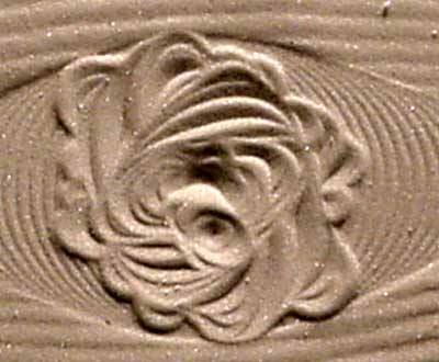 La rose centrale de l'enregistrement sismique